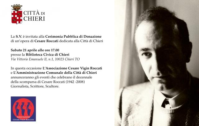 Invito Cerimonia Pubblica Donazione Opera Roccati